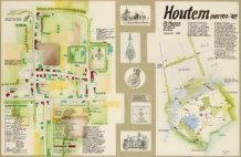 Houtem: handgetekende en becommentarieerde dorpskaart van Louis Huyghe