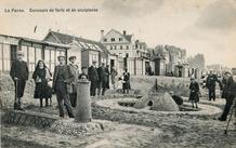 De Panne: wedstrijd forten en beelden bouwen in het zand