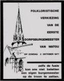 Watou: verkiezing dorpsburgemeester