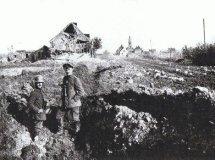 Jonkershove: Langemarkstraat tijdens de Eerste Wereldoorlog