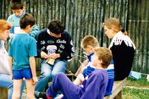 Grandhan: op kamp met de scouts