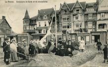 De Panne: wedstrijd zandkastelen bouwen op het strand