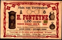Lo: reclameaffiche van horloge- en juwelenwinkel Fonteyne