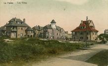 De Panne: zicht op villa's in de Bortierlaan