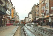 De Panne. heraanleg van tramlijn Nieuwpoortlaan