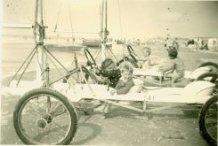 De Panne: poseren op een zeilwagen
