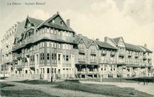 De Panne: bebouwing Duinkerkelaan - Square Bonzel, oostkant