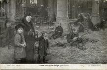 Veurne: soldaten bivakken in de St.-Niklaaskerk (2/2)