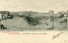 De Panne: panorama naar het westen, circa 1901