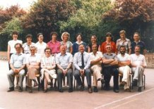 Nieuwpoort: leerkrachten Middelbaar College 1980-1981