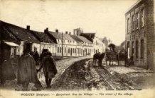 Woesten: de dorpsstraat tijdens WO1.