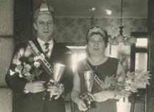 Nieuwpoort: koning en koningin van de palingvissers 1965