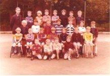 De Panne: klasfoto tweede leerjaar Sint-Pieterscollege 1976-77