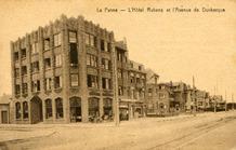 De Panne: Hotel Rubens in de Duinkerkelaan