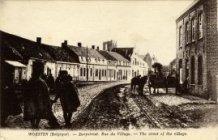 Woesten: de dorpsstraat tijdens WO1