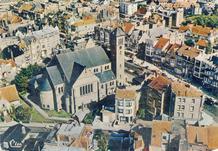 De Panne: luchtopname van de Onze-Lieve-Vrouwekerk