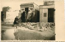 De Panne: de cabines, gered van de storm