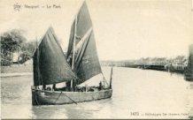 Nieuwpoort: pannepot P56 verlaat de haven