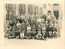 Nieuwpoort: derde en vierde leerjaar Sint-Bernarduscollege 1947-1948