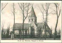 Werken: de kerk van Werken voor de beschietingen tijdens de eerste wereldoorlog