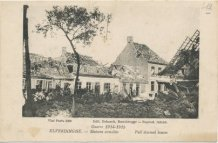 Boezinge: vernielde woningen in 1915