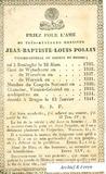Reninge: Bidprentje van pastoor Jean Baptiste Louis Pollin