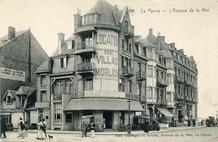 De Panne: verhuurkantoor Morlion in het grote Hotel Terlinck