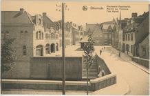 Diksmuide: zicht op de Vismarkt (Appelmarkt)