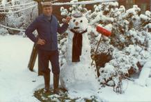 Kortemark: met de sneeuwman op de foto