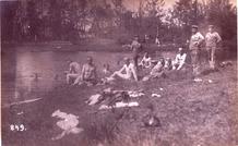 Langemark: baden op Duitse wijze