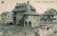 De Panne: villa's Windsor, Primrose, Rosemaryn en Mariolyn in de Halmenstraat