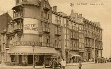 De Panne: het Hotel Terlinck strekt zich uit van de dijk tot aan de Duinkerkelaan
