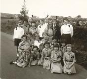 Westouter : Hollebeekse  Chiromeisjes op kamp in 1965