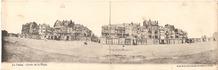 De Panne: panoramazicht  zeedijk anno 1906