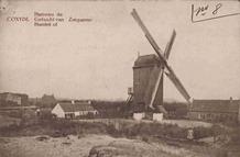 Koksijde: een zeldzaam beeld van de Zeepanne-molen van St Idesbald