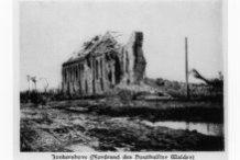 Jonkershove: ruïnes van de eerste kerk.