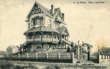De Panne: les Flots, de eerste villa in de avenue de la Gare