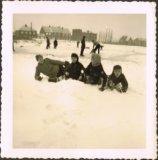 Langemark: winterpret op de vijver