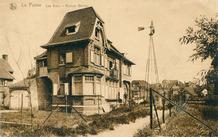 De Panne: Villa les Eaux met bijhorend pompgemaal