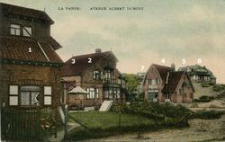 De Panne: villa's in Kykhillweg en Hoge Duinenlaan