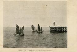 Nieuwpoort: pannepotten varen de haven binnen