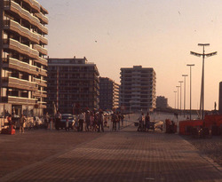 De Panne: einde Zeedijk aan Bortierplein