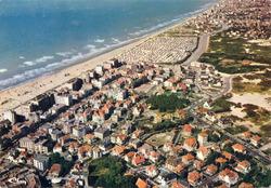 De Panne: luchtopname van het oostelijke deel van de gemeente