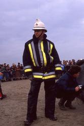 De Panne: brandweerman van wacht bij potvis