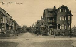 De Panne: de Halmenstraat, belangrijke toegangweg tot de villawijk