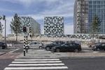 Oude Waalsdorperweg, zicht op de nieuwbouw van het Internationaal Strafhof (Inte…