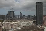 Vogelvluchtopname van het Stationsplein, Rijswijkseplein en omgeving. Rechts het…