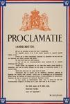 Proclamatie : Landgenooten; 1945