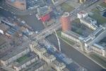 Luchtfoto van de Laakhaven met werkzaamheden aan de Neherkade hoek Leeghwaterple…