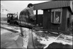 Derde Vissershaven, schoonmaakwerkzaamheden op het terrein van de Norfolk Line; …